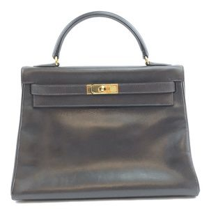 Kelly  Gold Hardware TBox Calf Leather Satchel
